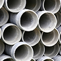 Des panneaux ou tuyaux en amiante-ciment (Fibrociment)